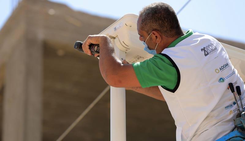 20by2020-Egypt---20by2020-staff-installing-the-solar-lights-in-Habisha-Village,-Asyut-techxmedia