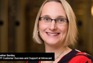 Heather Bentley, SVP Customer Success and Support at Mimecast-Data Quadrant Awards-techxmedia