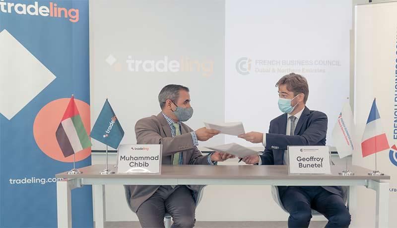 Muhammad-Chbib,-Tradeling-CEO-and-Geoffroy-Bunetel,-President-of-FBC-Tradeling--techxmedia