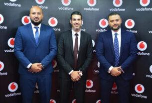 Osama-Mortada-of-CorporateStack-with-Ahmed-Sedky-of-Vodafone-and-Mohamed-Abdin-of-CorporateStack-TECHxmedia