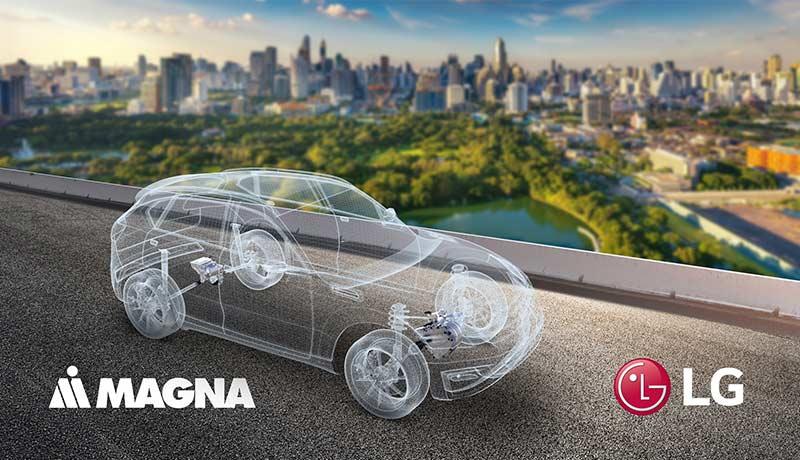 LG - Magna - joint venture - powertrain electrification space - TECHx