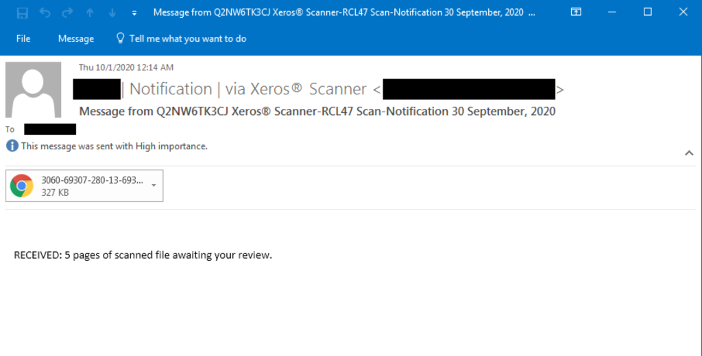 Phishing email example -TECHXMEDIA