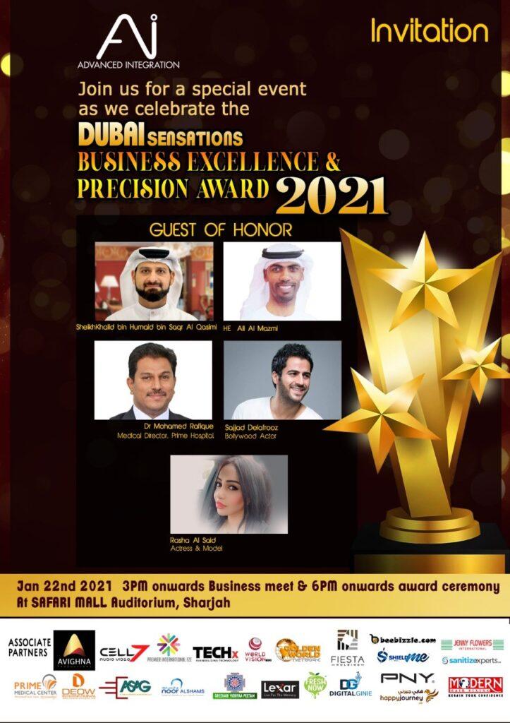 Dubai Sensations - Business Excellence - Precisian Awards 2021 -Advanced Integration - techxmedia