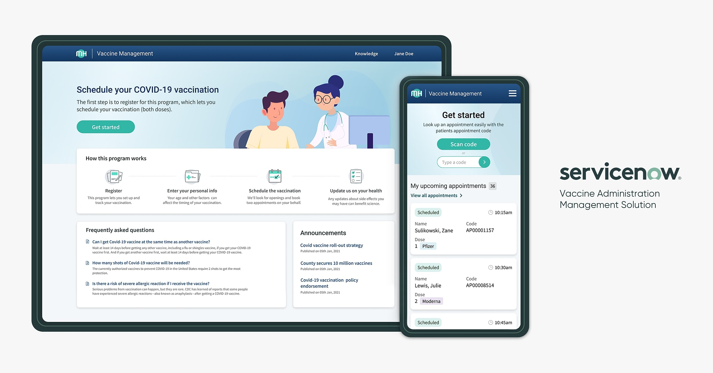 ServiceNow-vaccine-administration-management-solution- techxmedia