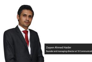 Zayyen Ahmed Haider - 10 Communications - techxmedia
