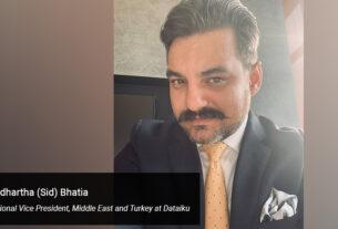 Siddhartha (Sid) Bhatia, Regional Vice President, Middle East and Turkey at Dataiku - techxmedia