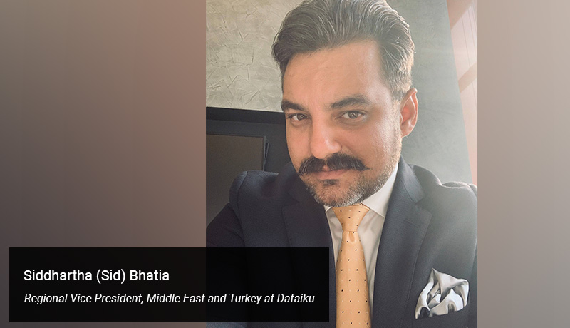 Siddhartha (Sid) Bhatia, Regional Vice President, Middle East and Turkey at Dataiku - techxmedia