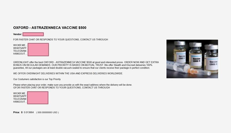 1 - Hackers vaccination certificates - Darknet - techxmedia