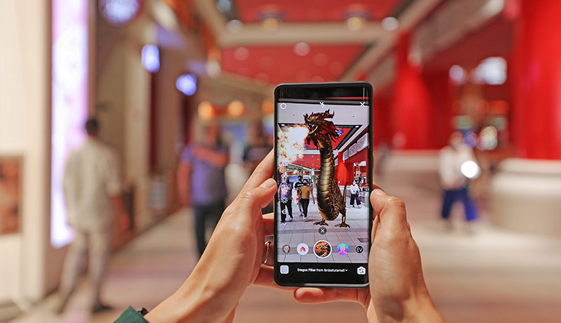 free AR walking - tours - Ibn Battuta Mall - techxmedial