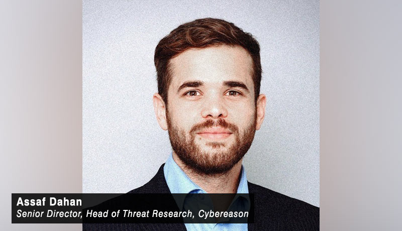 Assaf Dahan- senior director- head of threat research- Cybereason-techxmedia