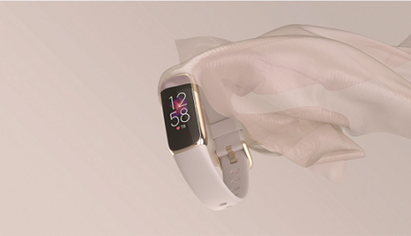 Fitbit Luxe Laydown Cloth Lunar White Center - techxmedia