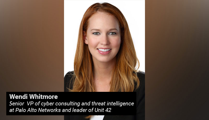 Wendi Whitmore - senior vice president - cyber consulting- threat intelligence - Palo Alto Networks - techxmedia