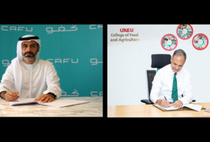 CAFU Sustainability Deal - research partnership - UAE University - techxmedia