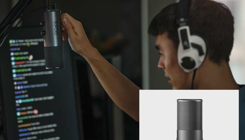 EPOS - broadcast quality- B20 streaming microphone - gamers - techxmedia