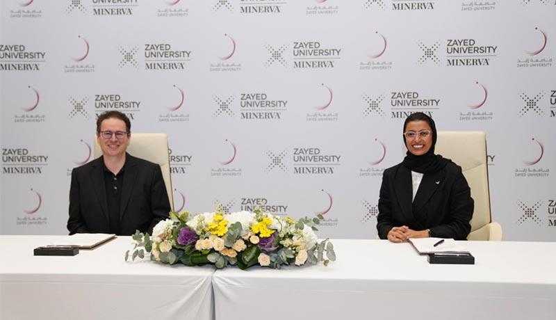 HE-Noura-Al-Kaabi,-President,-Zayed-University,-Ben-Nelson,-CEO,-Minerva - techxmedia