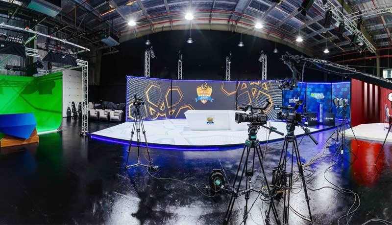 Power League Gaming - 10,000 Sqft studio - for 360º production solution - TECHXMEDIA