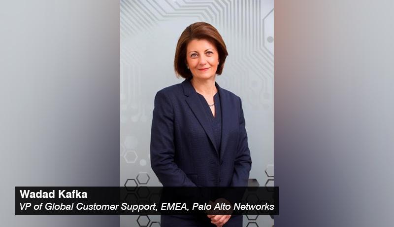 Wadad Kafka, vice president of Global Customer Support, EMEA, Palo Alto Networks - techxmedia