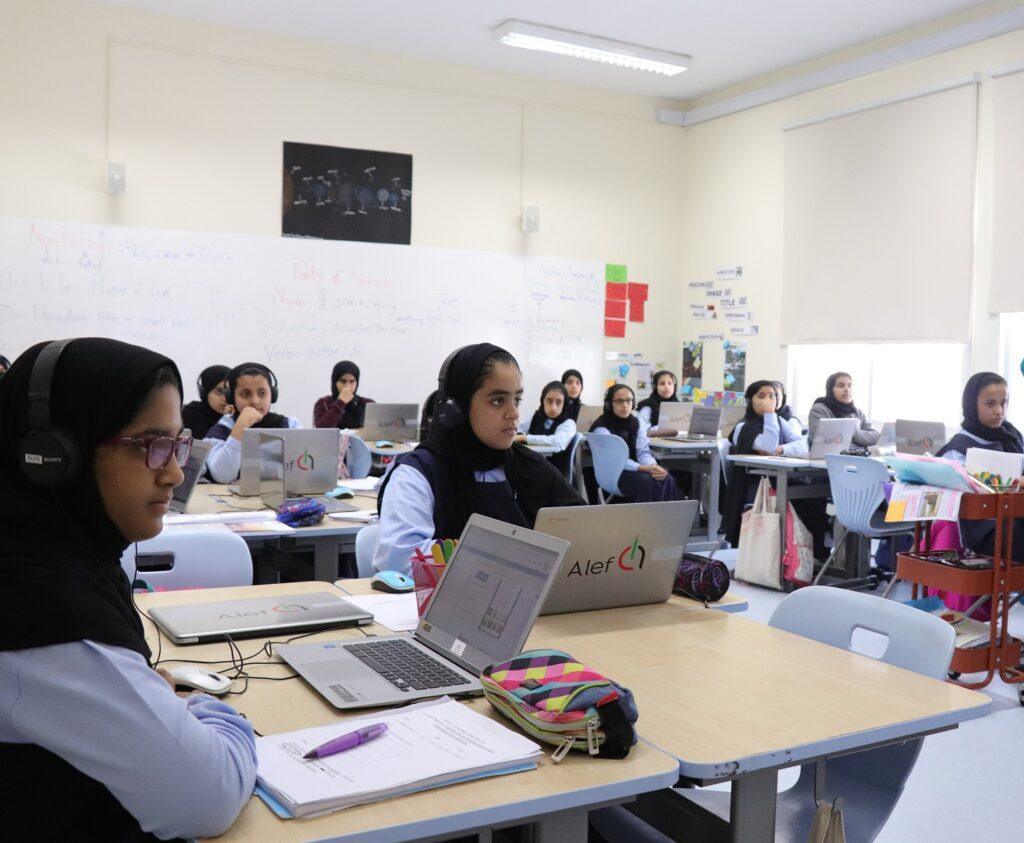 Alef Platform being used in a UAE public school  - techxmedia