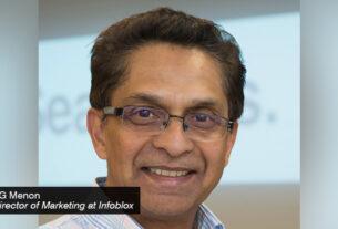 PG Menon, Director of Marketing at Infoblox - techxmedia