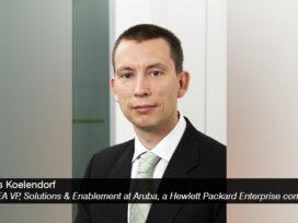 Lars Koelendorf, EMEA Vice President, Solutions & Enablement at Aruba, a Hewlett Packard Enterprise company - techxmedia