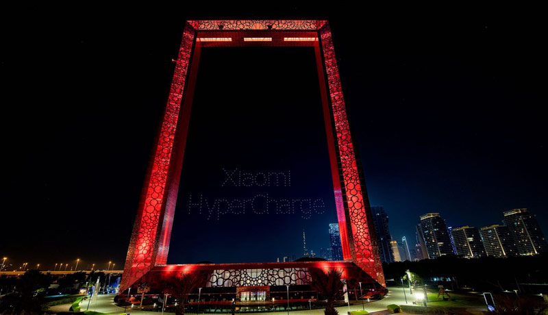 Dubai Frame - Xiaomi - drone display - Xiaomi 11 - Xiaomi 11T - Xiaomi 11T Pro - techxmedia