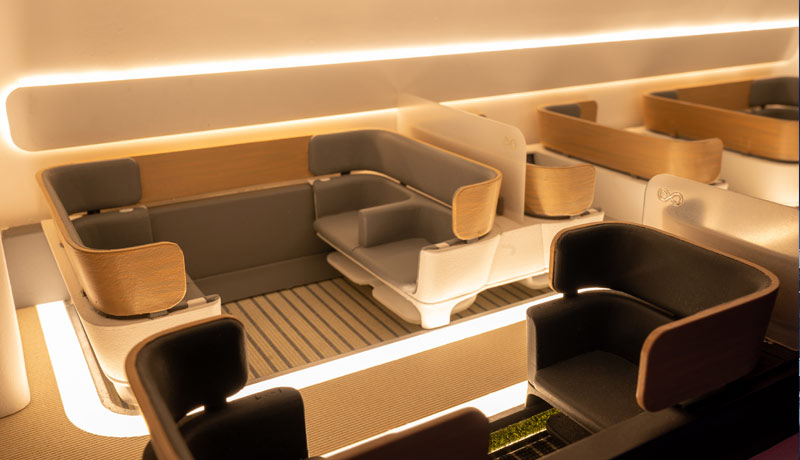 EXPO 2020 - Virgin Hyperloop - full-scale hyperloop cargo pod - cutaway passenger pod - DP World's FLOW pavilion - techxmedia