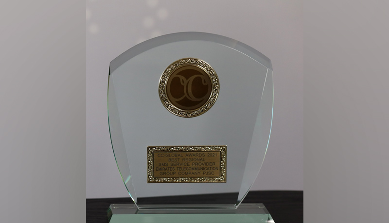 Etisalat - Best Regional SMS Service Provider - CC Global Awards 2021 - TECHx