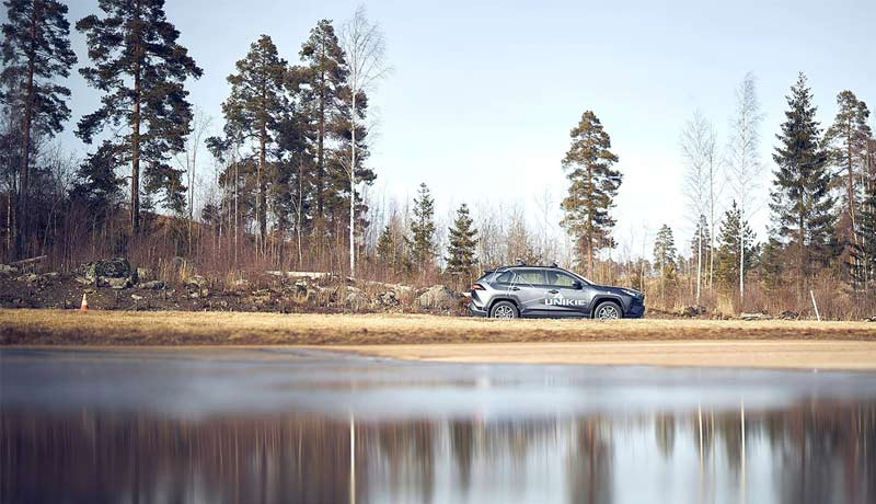 Unikie - Ericsson - factory parking - 5G private network - techxmedia